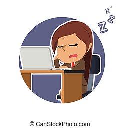 女性実業家, ラップトップ, indian, 円, 睡眠