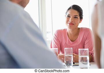 女性実業家, 中に, 会議の会合