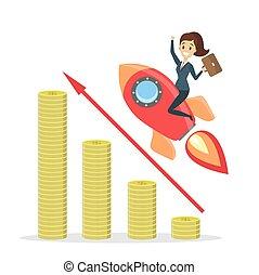 女性実業家, 乗馬, rocket.