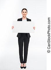 女性実業家, 保有物, カード, ブランク
