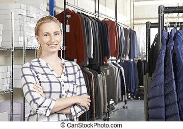 女性実業家, 動くこと, ファッション, 線, ビジネス