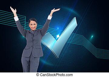 女性実業家, 合成の イメージ, 元気づけること