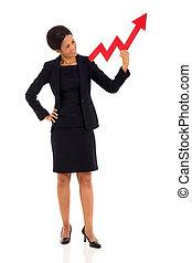 女性実業家, 年齢, 中央の, 成長, 矢, アフリカ