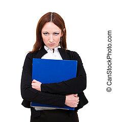 女性実業家, 怒る, 隔離された