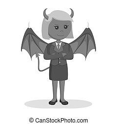 女性実業家, 悪魔