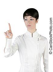女性実業家, 感動的である, パッド, 指, 未来派