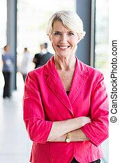 女性実業家, 成長した, オフィス