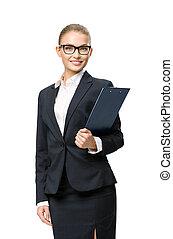 女性実業家, 文書, 半分長さ, 肖像画