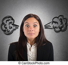 女性実業家, 煙, 脳