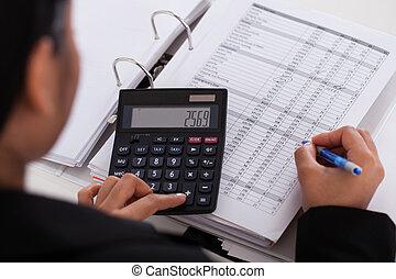 女性実業家, 計算