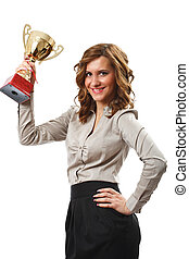 女性実業家, 金, カップ