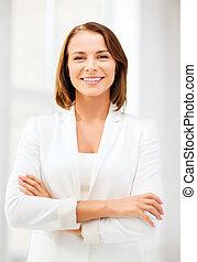 女性実業家, 魅力的, オフィス