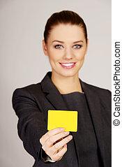 女性実業家, card., 保有物, ブランク