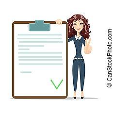 女性実業家, checklist.