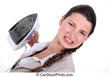 女性実業家, ironing., 不幸, 彼女