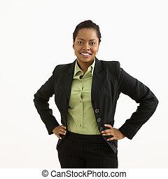 女性実業家, portrait.