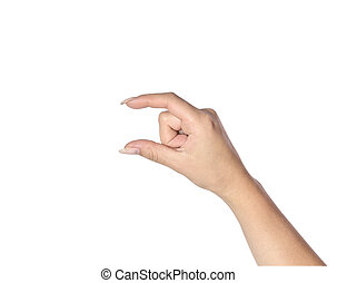 女性的手, 上, a, 白色 背景
