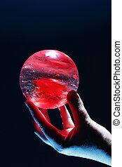 女性的手, 藏品, a, 水晶球