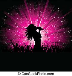 女性的歌手