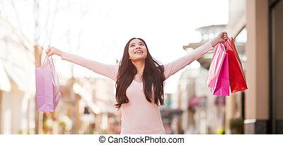 女性買い物, アジア人