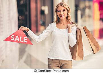女性買い物