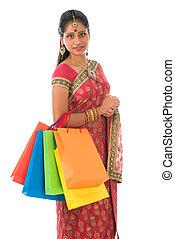 女性買い物, indian