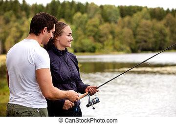 女性釣り, 人