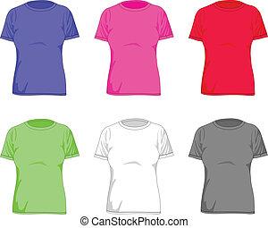 女性, シャツ, t