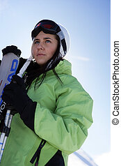女性, スキーヤー