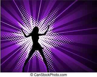 女性, セクシー, starburst