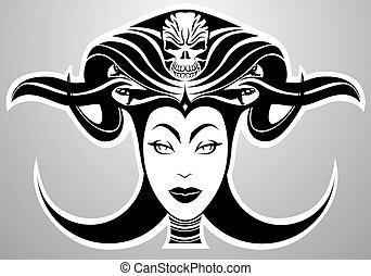 女性, ベクトル, satan