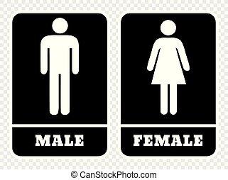 女性, マレ, 印, 洗面所