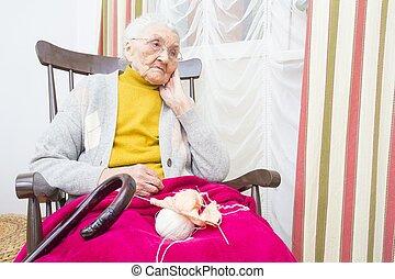 女性, 井戸, 使われた, 年配, 時間