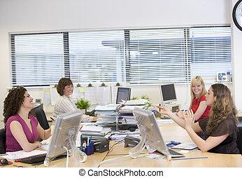 女性, 仕事, 中に, ∥, オフィス