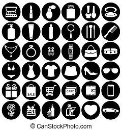 女性, 付属品, ファッション, アイコン
