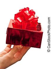 女性, 保有物, プレゼント, 手