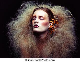 女性 化粧, ハロウィーン, 美しさ
