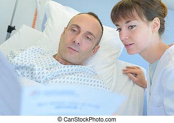 女性, 外科醫生, 要求, 男性, 病人, 一些, 問題
