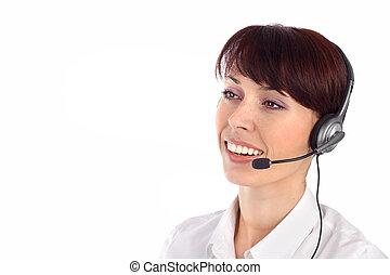 女性, 客戶服務代表, 微笑
