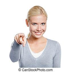 女性, 指すこと, 人差し指