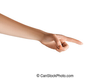 女性, 指すこと, 手