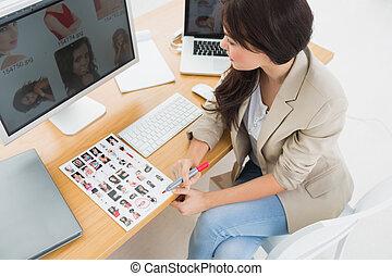 女性, 机, 芸術家, モデル
