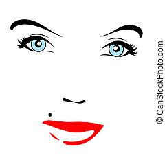 女性, 美しい額面