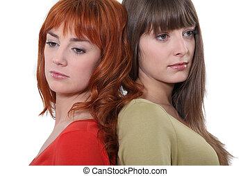 女性, 背中, 2