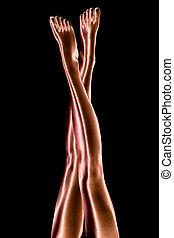女性, 腿