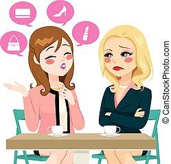 女性, 自慢, gossiping