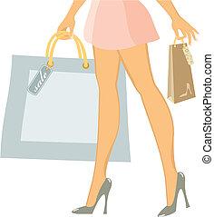 女性, 買い物