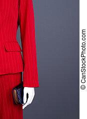 女性, space., スーツ, 優雅である, manequin, コピー