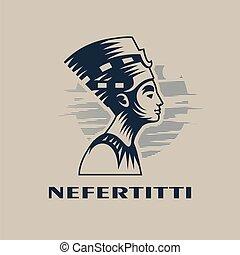 女王, エジプト人, nefertiti.