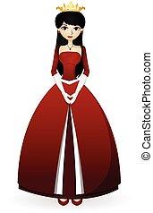 女王, ベクトル, デザイン, あなたの